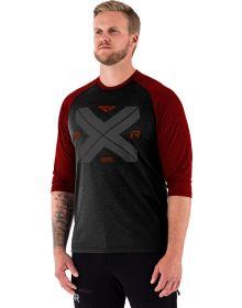 FXR Clutch Tech 3/4 sleeve Shirt Black/Heather Rust