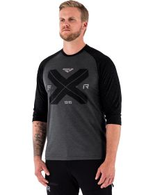 FXR Clutch Tech 3/4 sleeve Shirt Heather Charcoal/Black