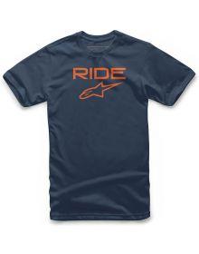 Alpinestars Ride 2.0 Youth T-shirt Navy/Orange