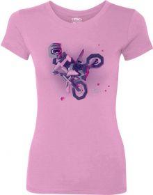 Factory Effex Moto Kids Youth Girls T-Shirt Light Pink