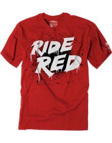 Factory Effex Honda Splatter Youth T-Shirt Red