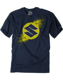 Factory Effex Suzuki Overspray Youth T-Shirt Navy