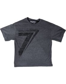 Seven Dot Youth T-Shirt Charcoal