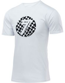 Seven Dot Youth T-Shirt White/Checkmate