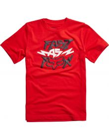 Fox Racing Latimer Youth T-Shirt Flame Red