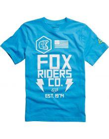 Fox Racing Olpe Youth T-Shirt Light Blue