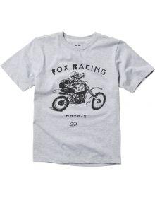 Fox Racing Brigade Youth T-Shirt Heather Grey