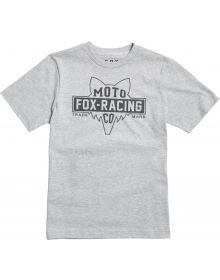 Fox Racing Flathead Youth T-Shirt Light Heather Grey