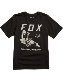 Fox Racing Hold Fast Youth T-Shirt Black
