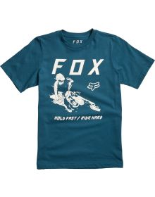 Fox Racing Hold Fast Youth T-Shirt Maui Blue