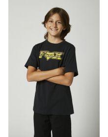 Fox Racing Chrome F Head X Youth T-shirt Black