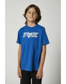 Fox Racing Chrome F Head X Youth T-shirt Royal Blue
