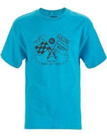 Fly Racing Tried and True Youth T-Shirt Turquoise