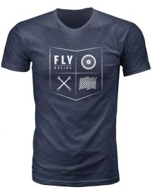 Fly Racing All Things Moto Youth T-Shirt Navy