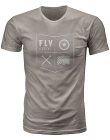 Fly Racing All Things Moto Youth T-Shirt Grey