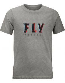 Fly Racing Glitch Youth T-Shirt Dark Heather Grey