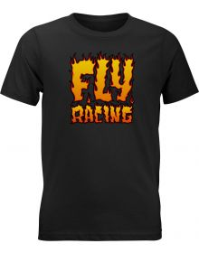 Fly Racing Fire Youth T-Shirt Black