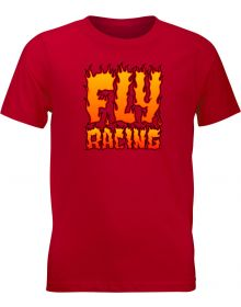 Fly Racing Fire Youth T-Shirt Red