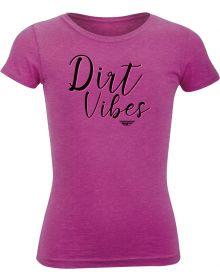Fly Racing Dirt Vibes Girl's T-Shirt Raspberry