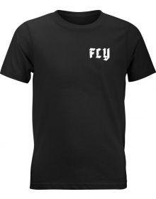 Fly Racing Moto Mind Youth T-Shirt Black