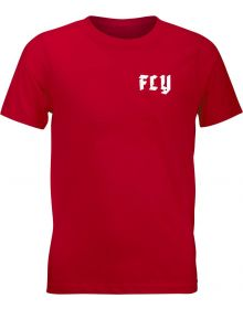 Fly Racing Moto Mind Youth T-Shirt Red