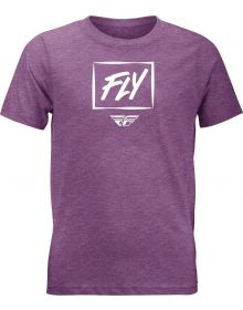 Fly Racing Zoom Youth T-Shirt Heather Purpple