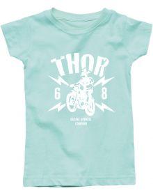Thor Lightning Toddler Girls T-Shirt Mint