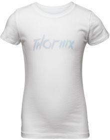 Thor 2021 MX Girls Youth T-Shirt White