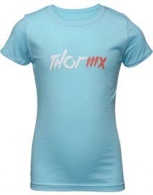 Thor 2021 MX Girls Youth T-Shirt Blue