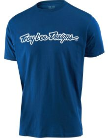 Troy Lee Designs Signature Youth T-Shirt Royal Blue