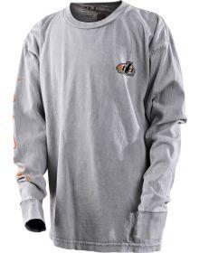 Troy Lee Designs Pistonbone Youth Longsleeve Shirt Gray Mineral Wash