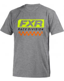FXR Race Division Youth T-Shirt Heather Charcoal/Red