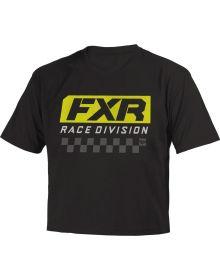 FXR Race Division Toddler Youth T-Shirt Black/Hi-Vis