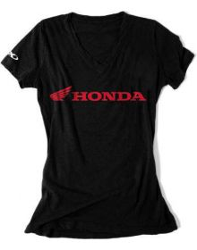 Factory Effex Honda Horizontal Womens T-Shirt Black
