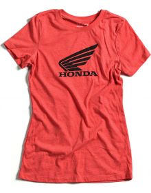 Factory Effex Honda Wing Womens T-Shirt Vintage Red