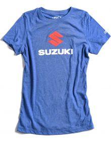 Factory Effex Suzuki Stack Womens T-Shirt Vintage Royal