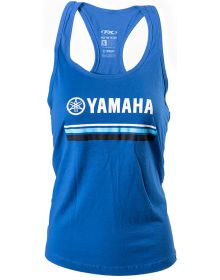 Factory Effex Yamaha Striped Womens Tank Top Royal