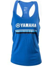 Factory Effex Yamaha Striped Womens Tank Top Royal