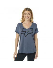 Fox Racing Responded Vneck Womens T-Shirt Blue