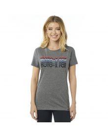 Fox Racing Dragway Crew Womens T-Shirt Heather Graphite
