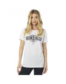Fox Racing Lowdown BF Crew Womens T-Shirt White
