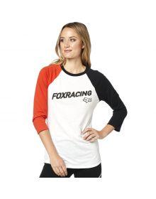 Fox Racing Struck Womens Long Sleeve T-Shirt White