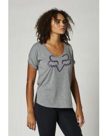 Fox Racing Boundary Womens T-shirt Heather Graphite