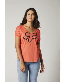Fox Racing Boundary Womens T-shirt Flamingo