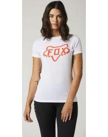 Fox Racing Division Tech Womens T-shirt White