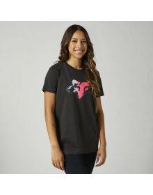 Fox Racing Pyre Womens Boyfriend T-shirt Black Vintage