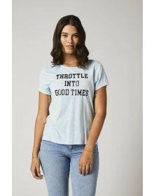 Fox Racing Throttle Womens T-shirt Crystal Blue