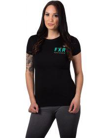 FXR Track Womens T-Shirt Black/Mint