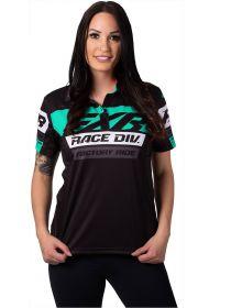 FXR 2020 Race Division Polo Womens T-Shirt Black/Mint