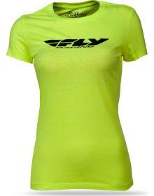 Fly Racing Corp Womens T-Shirt Neon Yellow